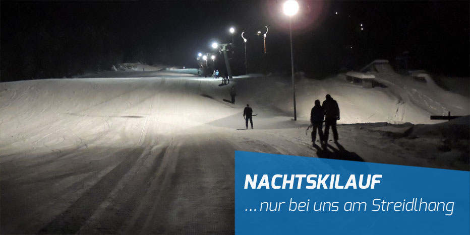 Nachtskilauf am Streidlhang in Lenggries